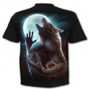 Wild moon - T-shirt - Motif Loup garou - Homme