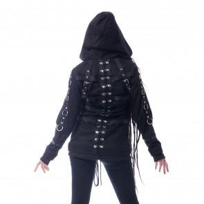 Veste Rock Gothic femme - Vivien coat - Chemical black