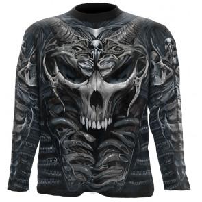 Boutique en ligne tee shier manches longues skull armour vêtement homme spiral