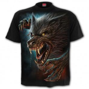 tee shirt motif loup garou wild moon boutique vetement dark fantasy horreur spiral France