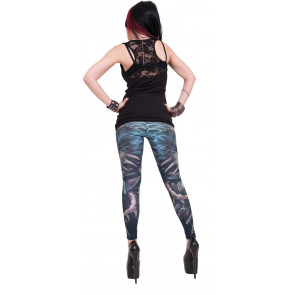 Flaming spine - Leggings - Dark fantasy squelettes