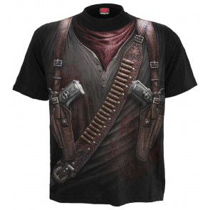Holster wrap - T-shirt homme fantasy western - Spiral