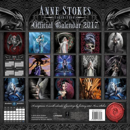 Anne Stokes Calendrier 2017 Fée Elfe Dragon Fantasy Gothic