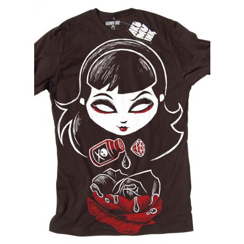 Femme Gothic Rose Shirt Ink Akumu Deadly T TPkOZXiu
