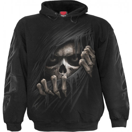 Ripper Boutique Gothic La Grim Shirt Sweat Spiral Homme Faucheuse YAxwCUCqa