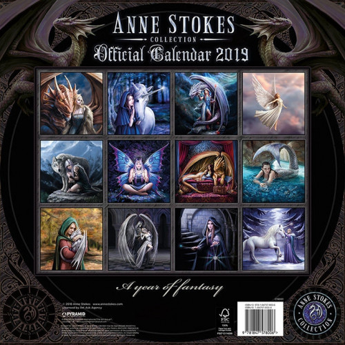 Anne Stokes Calendrier 2019 Fée Elfe Fantasy Gothic