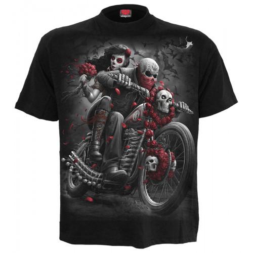Tee-shirt squelette moto motard - Homme -