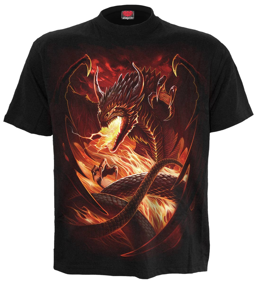 dragon wrath t shirt homme dragon v tement manches courtes heroic fantasy. Black Bedroom Furniture Sets. Home Design Ideas
