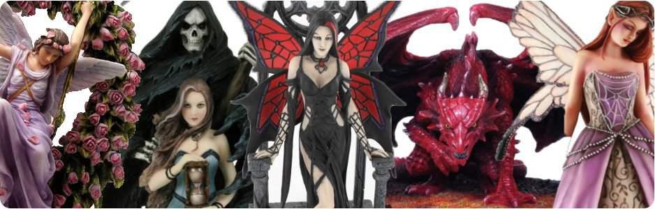 Figurines fées, elfes, dragons, anges, gothique