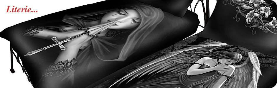Housse de couette gothique fantasy, coussins