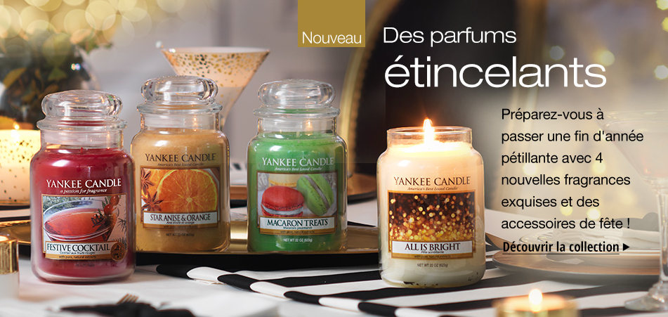 Boutique bougies parfumées yankee candle france collection noel hiver 2016/2017 holiday party