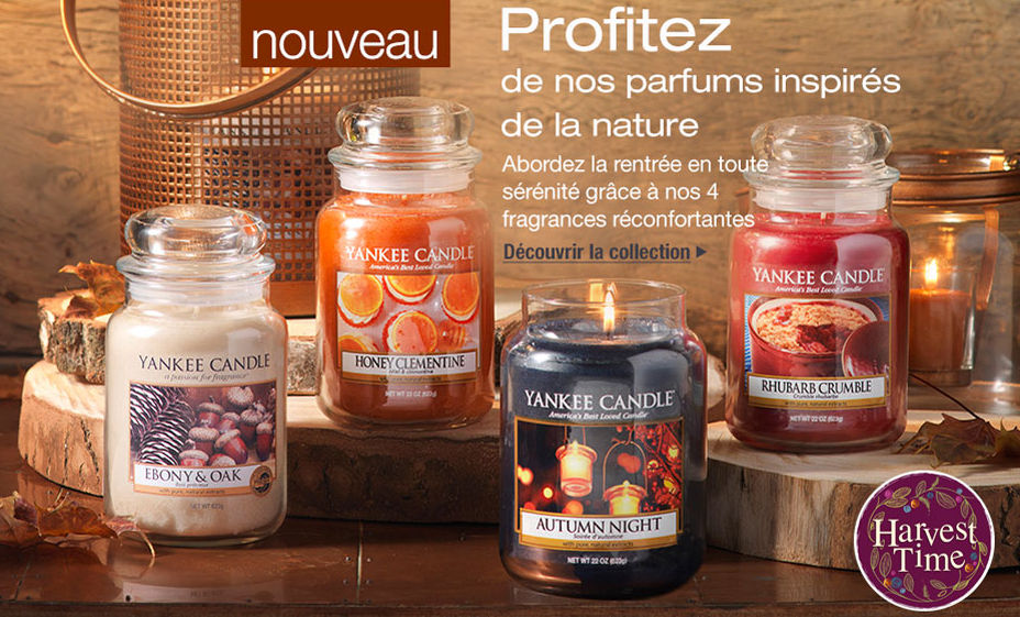 Boutique bougies parfumées yankee candle france collection harvest time automne 2016